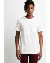 Forever 21 - Speckle-textured Pocket Tee - Lyst