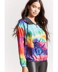 Forever 21 - Rainbow Tie-dye Anorak - Lyst
