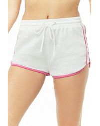 299eccd9d40 Lyst - Forever 21 Plus Size Stripe Dolphin Shorts