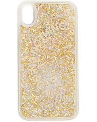 Forever 21 Busy Doing Nothing Graphic Waterfall Phone Case For Iphone Xr , Gold - Metallic