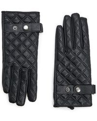 Forever 21 - Quilted Faux Leather Gloves , Black - Lyst