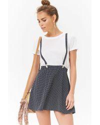 Forever 21 - Polka Dot Suspender Skirt - Lyst