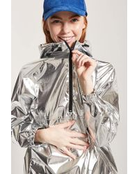 Forever 21 - Metallic Coated Anorak - Lyst