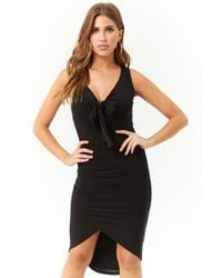 Forever 21 - Tie-front Tulip Dress - Lyst