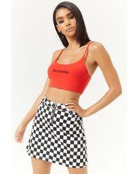 Forever 21 - Checkered Mini Skirt - Lyst