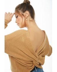 Forever 21 - Ribbed Twist-back Sweater - Lyst