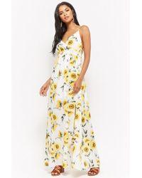 Forever 21 - Sunflower Print Maxi Dress - Lyst