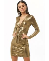 Forever 21 - Women's Twist-front Metallic Homecoming Dress - Lyst