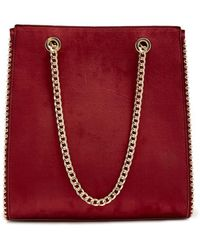 Forever 21 - Chain-strap Faux Suede Tote Bag - Lyst