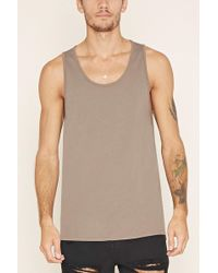 Forever 21 - Cotton Scoop Neck Tank - Lyst