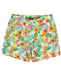 Forever 21 - Tropical Floral Swim Trunks - Lyst
