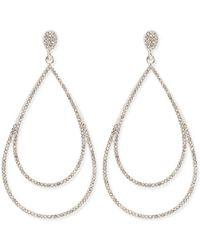 Forever 21 - Women's Pave Double Teardrop Earrings - Lyst
