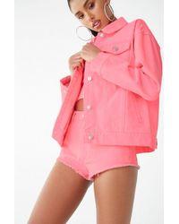 Forever 21 Women's Neon Denim Jacket