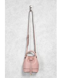 Forever 21 - Faux Leather Mini Bucket Bag - Lyst