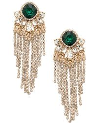 Forever 21 - Faux Gem Chandelier Earrings - Lyst