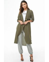 Forever 21 - Draped Open-front Duster Jacket - Lyst