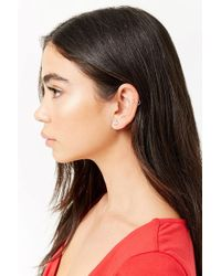 Forever 21 - Women's Faux Gem Crown Stud Earrings - Lyst