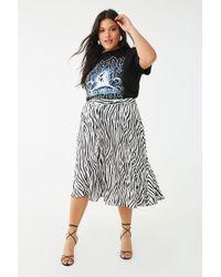 Missguided - Plus Size Zebra Print Skirt At - Lyst