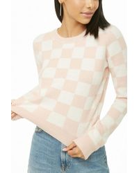 Forever 21 Women's Brushed Knit Checkered Sweater Sweater