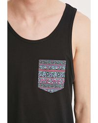 Forever 21 - Abstract Print-pocket Tank - Lyst