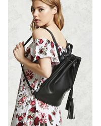 Forever 21 - Tasseled Faux Leather Backpack - Lyst