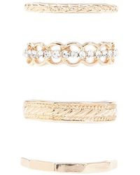 Forever 21 - Textured Bands Ring Set - Lyst