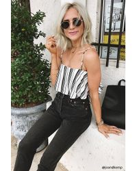 Forever 21   Striped Flounce Crop Top   Lyst