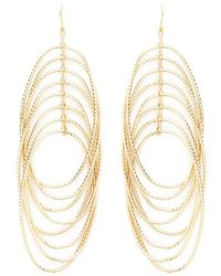 Forever 21 - Tiered Oval Drop Earrings - Lyst