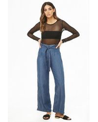 Forever 21 - Chambray Paperbag Pants - Lyst