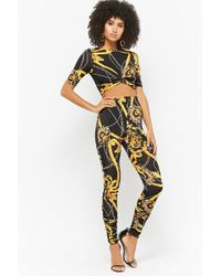 Forever 21 - Chain Print Crop Top & Leggings Set - Lyst