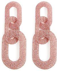 Forever 21 - Glitter Linked Earrings - Lyst