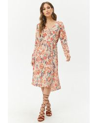 Forever 21 - Patrons Of Peace Floral Dress - Lyst