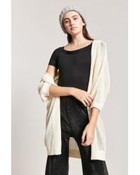 Forever 21 - Open-front Cardigan - Lyst
