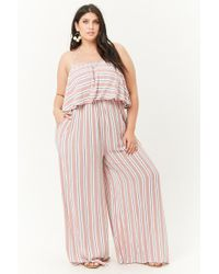 Forever 21 - Women's Plus Size Striped Halter Jumpsuit - Lyst
