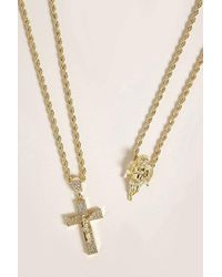 Forever 21 - Men Akademiks Pendant Necklace Set - Lyst