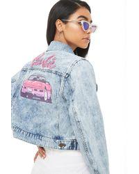 Forever 21 - Acid Wash Barbie Denim Jacket - Lyst