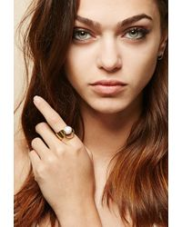 Forever 21 - Amber Sceats Faux Pearl Bull Ring - Lyst