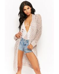 Forever 21 - Marled Knit Longline Cardigan - Lyst