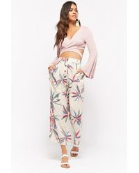 Forever 21 - Tropical Leaf Button-down Pants - Lyst