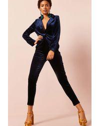 Forever 21 | Velvet Blazer & High-rise Pants Set | Lyst