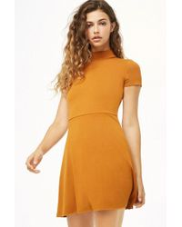 c81aedac9fea7 Forever 21 - Mock Neck Fit & Flare Dress - Lyst