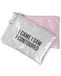 Forever 21 - Graphic Glitter Makeup Pouch Set - Lyst