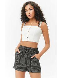 Forever 21 - Striped Linen-blend Shorts - Lyst