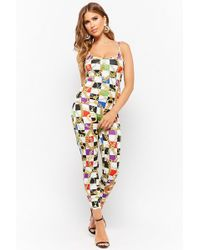 Forever 21 - Checkered Baroque Chain Print Jumpsuit - Lyst