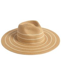 Forever 21 - Striped Straw Fedora - Lyst