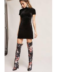 Forever 21 - Yoki Floral Over-the-knee Boots - Lyst