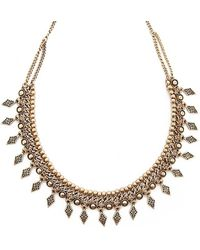 Forever 21 - Etched Burnished Necklace - Lyst