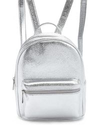 Forever 21 - Faux Leather Metallic Backpack - Lyst