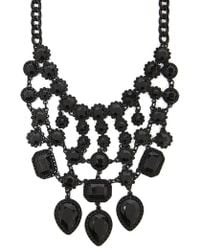 Forever 21 - Faux Obsidian Bib Necklace - Lyst