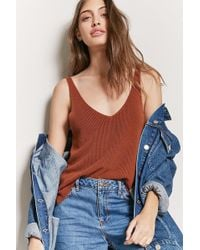 Forever 21   Sweater-knit Tank Top   Lyst